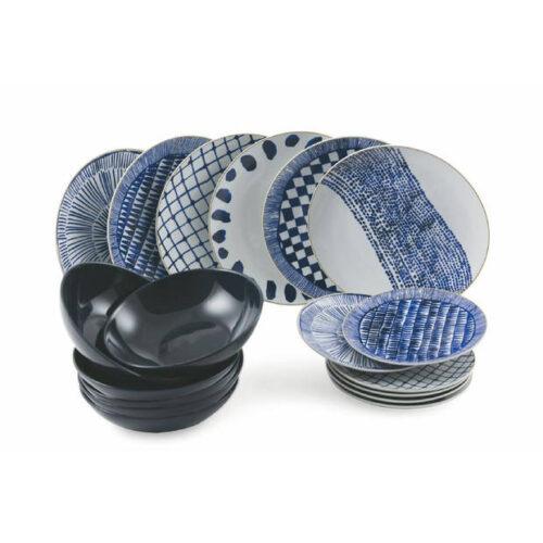 Blauw wit servies